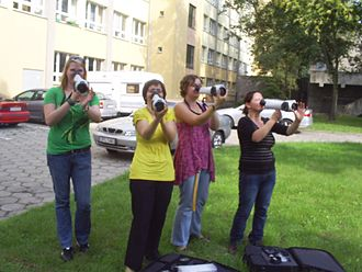 Olfaction - Nasal Ranger, an olfactometer, in use