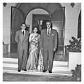 Nasser receiving the Indian journalist Karanjia and his wife (9).jpg