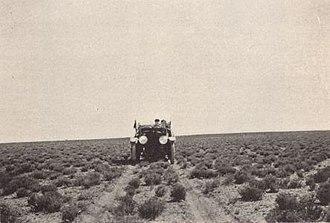National Old Trails Road - National Old Trails Road near Holbrook, Arizona around 1915