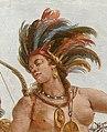 Native American detail, from- Tiepolo, Giovanni - Deckenfresko im Treppenhaus der Würzburger Residenz - Detail Amerika (cropped).jpg