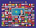 Nazarbayev 2013 stampsheet of Kazakhstan.jpg