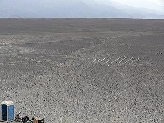 Nazca Lizard geoglyph