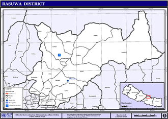 Rasuwa District - Map of the VDCs in Rasuwa District