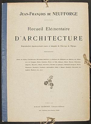 Jean-François de Neufforge - Image: Neufforge Recueil elementaire d'architecture front page