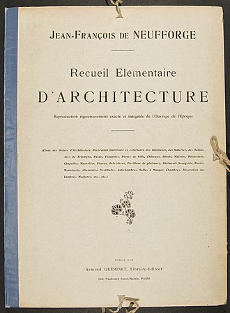 Jean-François de Neufforge - Image: Neufforge Recueil elementaire d'architecture front page