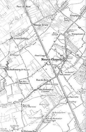 Battle of Neuve Chapelle - Neuve Chapelle area, 1914–1915