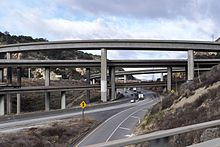 Newhall Pass Interchange from bypass 2016-11-28.jpg