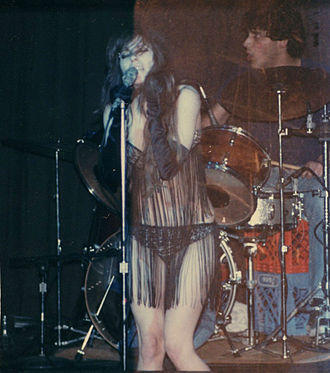 Niagara (painter and singer) - With Destroy All Monsters, Ann Arbor, Michigan, USA, spring 1982
