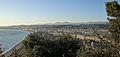 Nice - La baie des Anges vue depuis le sommet de la colline du château de Nice.JPG