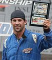 Nick Baumgartner Winner Podium 2011 Traxxas TORC Oshkosh (cropped).jpg