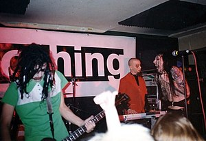 "Nothing Records - Marilyn Manson in 1994, performing during the label's ""A Night of Nothing"" showcase of Nothing Records acts."