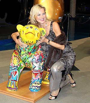 Nina Ruge - Nina Ruge at a auction of Buddy Bears in aid of UNICEF in Berlin, 2010.
