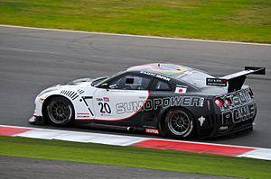 Nissan GT-R GT1 Sumo Power GT 20 rearview Silverstone 2011.jpg