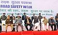 Nitin Gadkari along with the Union Minister for Civil Aviation, Shri Ashok Gajapathi Raju Pusapati and the Minister of State for Home Affairs, Shri Hansraj Gangaram Ahir participating in the Road Safety Walk.jpg