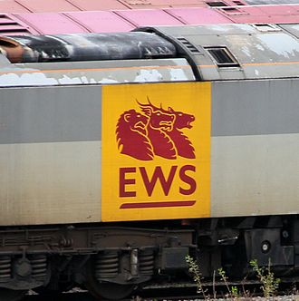 DB Cargo UK - Big Beasties logo used on a locomotive.