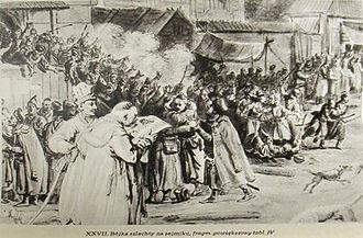 Sejmik - Nobility fighting at a sejmik, Jean-Pierre Norblin de La Gourdaine