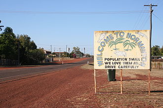 Normanton, Queensland - Entry into Normanton
