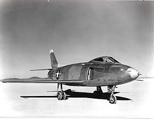 North American YF-93 - The first YF-93A with NACA inlets