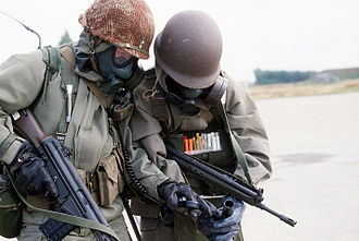 Norwegian Home Guard - Norwegian Home Guardsman with AG-3