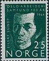 Norwegian stamp NK549 Eilert Sundt.jpg