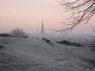Mousehold Heath - A view of Norwich Cathedral from St. James' Hill