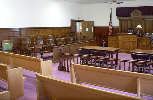 Nuckolls County Courthouse courtroom 2