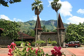 Notre Dame Cathedral, Taiohae Church in French Polynesia, France
