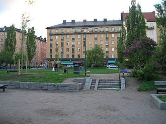 Nytorget - A picnic place and square on Nytorget