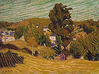 Roderic O'Conor - Image: O Conor Yellow Landscape 1892