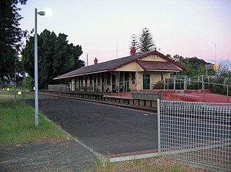 South Western Railway, Western Australia - Harvey station in October 2006