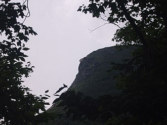 Old Man of the Mountain - The site of the Old Man of the Mountain in July 2010, 7 years after the collapse