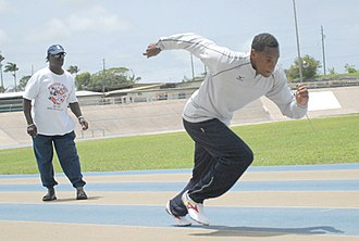 Obadele Thompson - Thompson training with longtime coach Frank Blackman