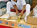 Oboro-Kombu process, Kelp scraping.jpg