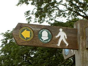 Offa's Dyke Path - Offa's Dyke Path signpost in Denbighshire