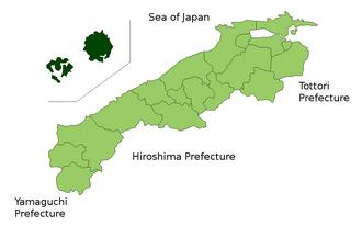 Oki District, Shimane - Location of Oki District in Shimane Prefecture