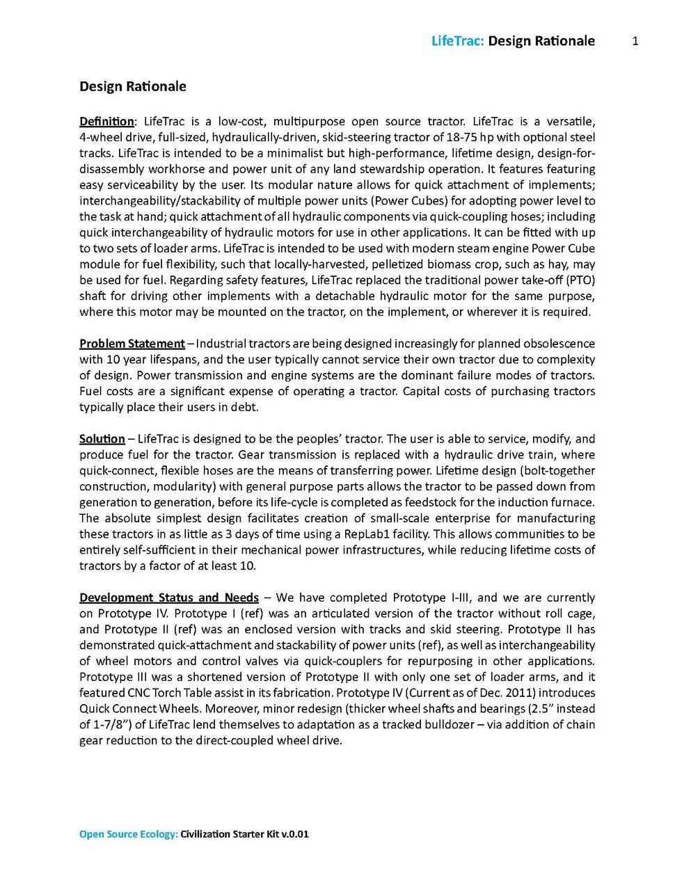 Open Source Ecology - LifeTrac - Design Rationale.pdf