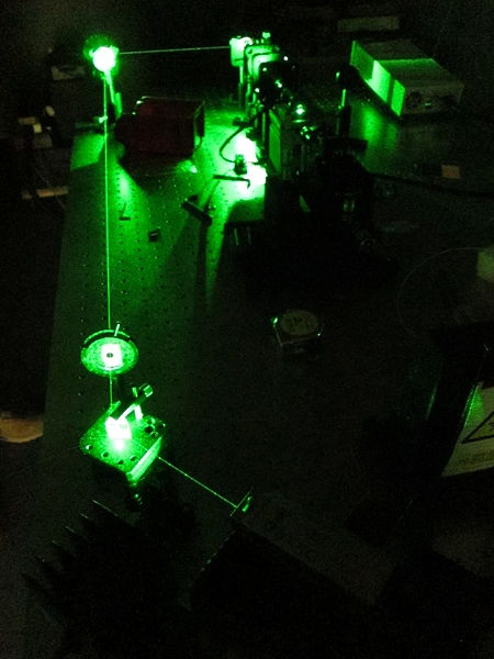 File:Optical Table with doubled Nd-YAG Laser - (1).jpg