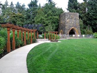 George Rogers Park - Part of the park, including the Oregon Iron Company Furnace, in 2007