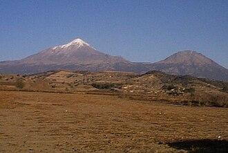 Sierra Negra -  Pico de Orizaba and Sierra Negra viewed from the west, near Ciudad Serdán