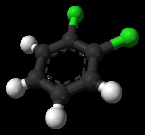 1,2-Dichlorobenzene - Image: Ortho dichlorobenzene 3D balls