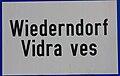 Ortstafel Wiederndorf - Vidra ves.jpg