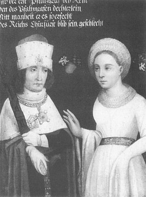 Stahleck Castle - Otto II of Bavaria and Agnes of the Palatinate in a 16th-century painting based on a 15th-century original