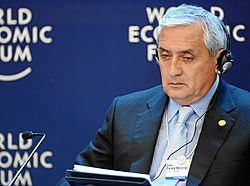 Otto Perez Molina at World Economic Forum 2013