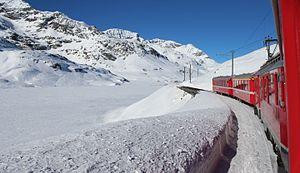 Bernina Pass - Image: Over the Bernina Pass