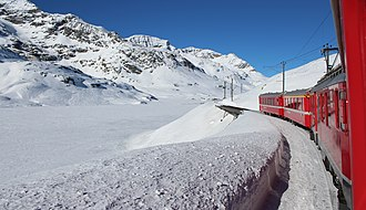 Bernina Pass - Image: Over the Bernina Pass