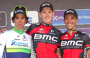 2015 Brabantse Pijl - Michael Matthews (2nd), Ben Hermans (1st) and Philippe Gilbert (3rd).
