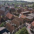 Overzicht vanaf de kerktoren van de Simon en Judaskerk naar het westen met zicht op de Hervormde kerk - Ootmarsum - 20383829 - RCE.jpg