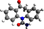 Oxcarbazepine 3d structure.png
