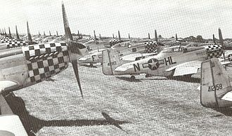 Imperial War Museum Duxford - 78th Fighter Group P-51D Mustangs at Duxford in summer 1945.