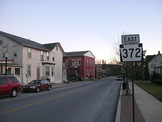 Atglen, Pennsylvania - Image: PA 372E through Atglen